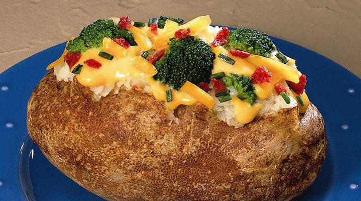 Broccoli and Cheese Baked Potatoes