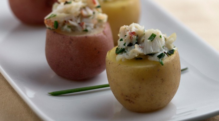 Crab Filled Potato Bites