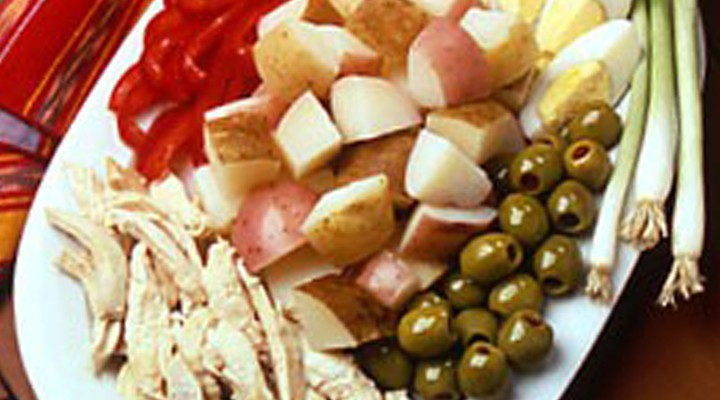 Peruvian Potato and Chicken Platter